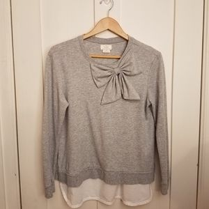 Kate Spade - Light Gray Bow Sweatshirt/ Blouse